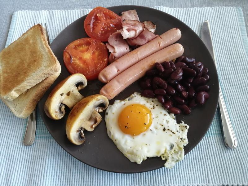Anglické raňajky - recept