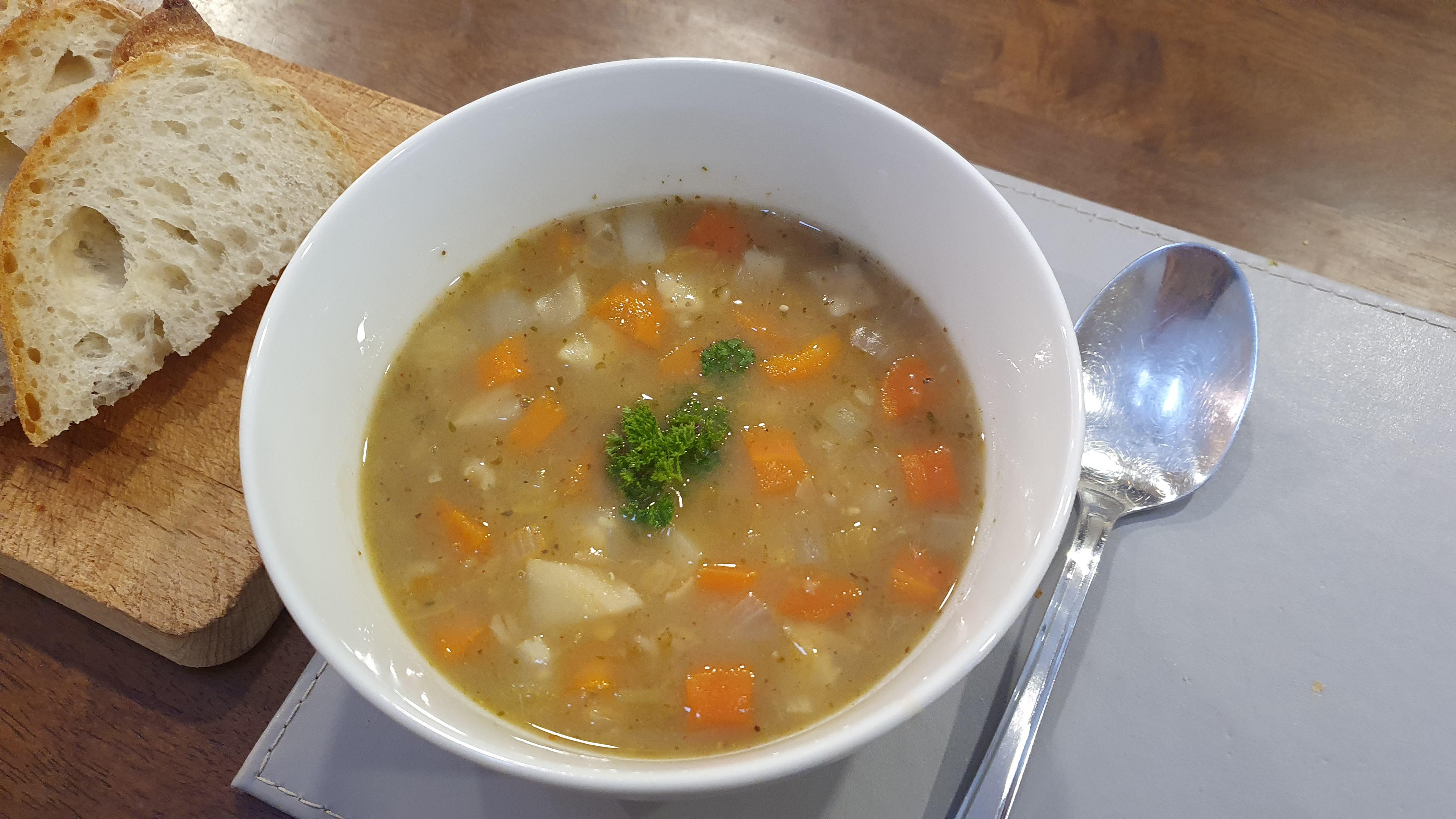 Hŕstková polievka so zeleninou - recept