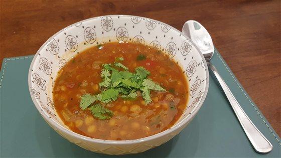 Indická šošovicová polievka