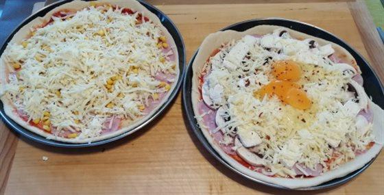 Domáca pizza - obloženie