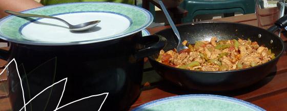 Zeleninové soté s ryžou – recept