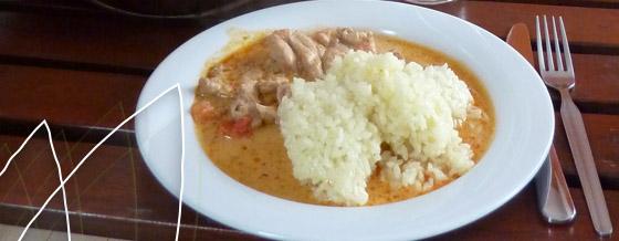 Smotanové kuracie soté s ryžou – recept