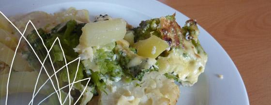 Zapekaný karfiol a brokolica so zemiakmi