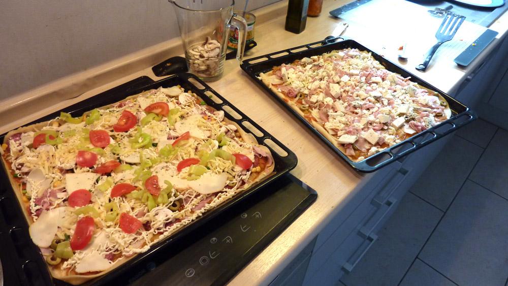 Štedrá pizza
