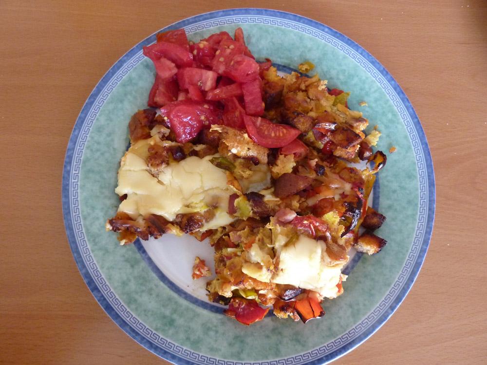 Chlebová omeleta – recept