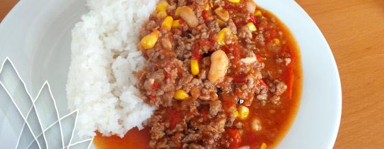Výborné chilli s ryžou