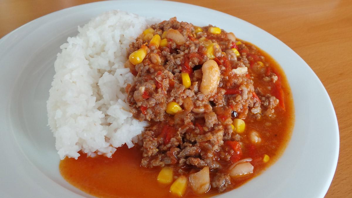 Chilli s ryžou - recept