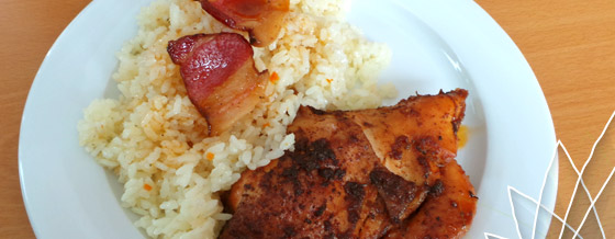 Pečené kura so skvelou ryžou