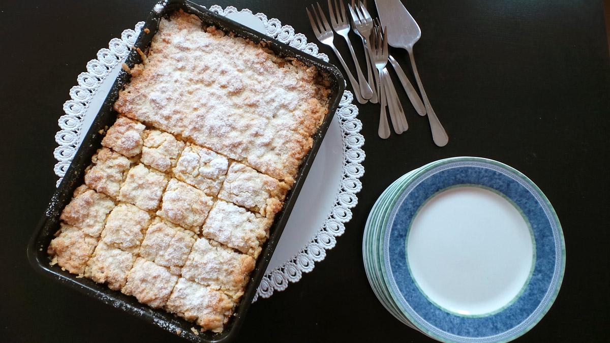 Krehký jablkový koláč - recept