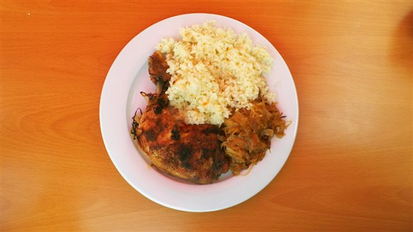 Kura pečené s kyslou kapustou a ryža – recept