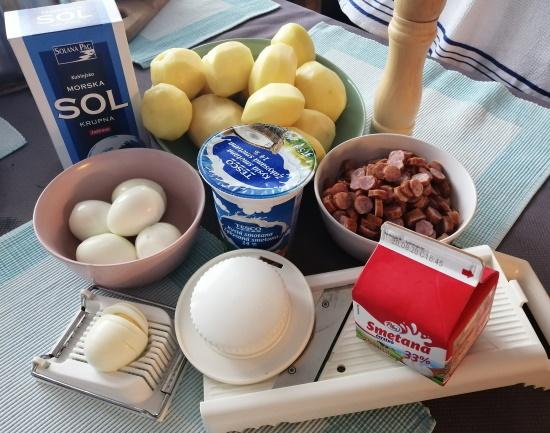 Francúzske zemiaky - čo potrebujeme - suroviny