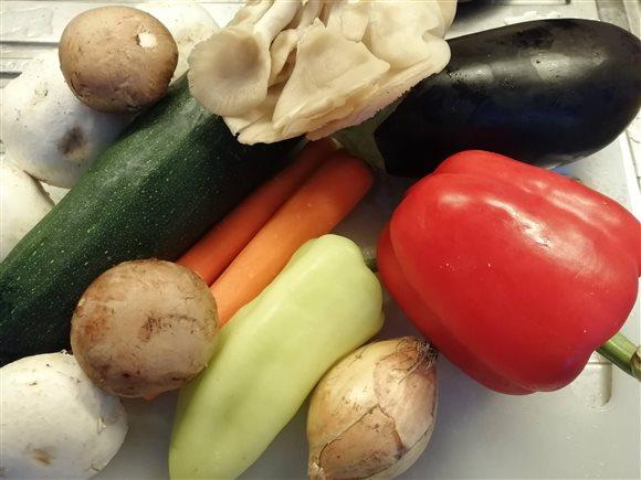 Pečená zelenina na panvici